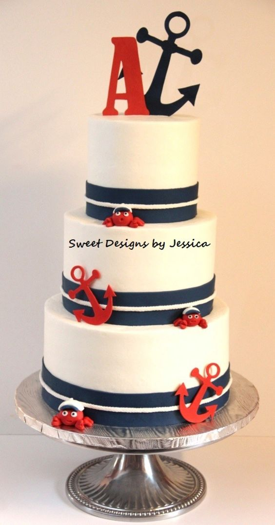 Nautical Cake Inspirations Ideas on anchor party decorations