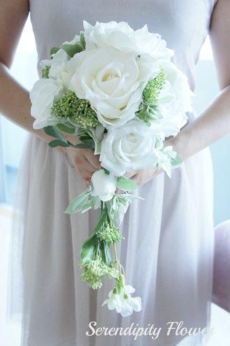 Serendipity Flower(セレンディピティフラワー)  ホワイトローズキャスケードブーケ