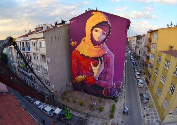Streetart: INTI New Mural In Istanbul // Turkey