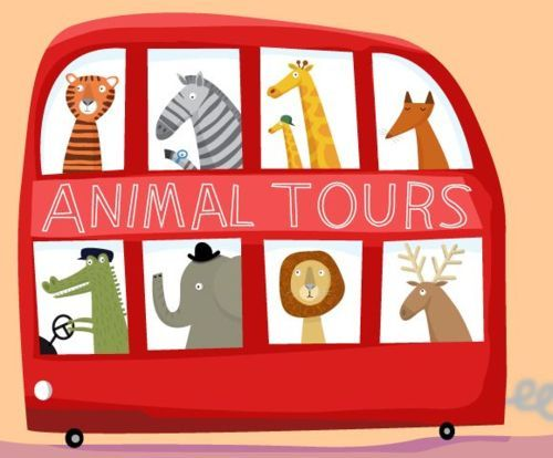 animal tours, double decker bus
