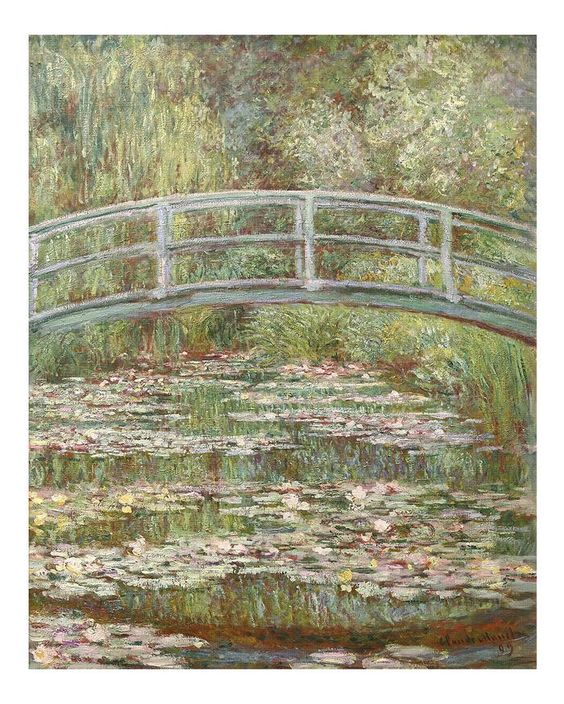 Bridge Over A Pond Of Water Lilies By Claude Monet Canvas Print from Truly Art