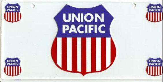Union Pacific Train Company License Plate