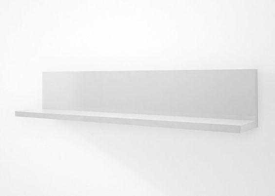 Wandboard Acorano Regal 120,0 Weiß Hochglanz 4672. Buy now at https://www.moebel-wohnbar.de/wandboard-acorano-regal-120-0-weiss-hochglanz-4672.html