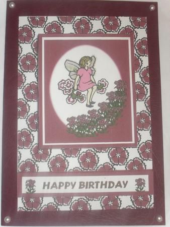 Sweet William fairy on Craftsuprint designed by Hilary Hallas - made by Anne-marie wheeler - Printed onto good quality card then decoupaged with foam pads. Added to atching card blank with pearls in the corners very quick and easy card.  - Now available for download!