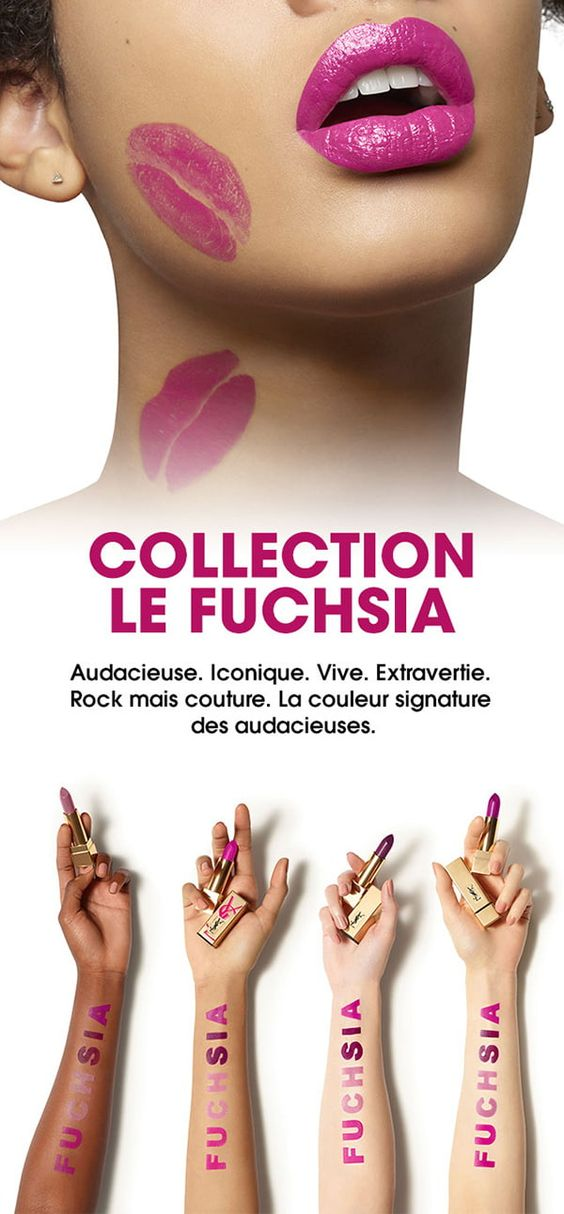 Collection Le Fuchsia d'YSL Beauté