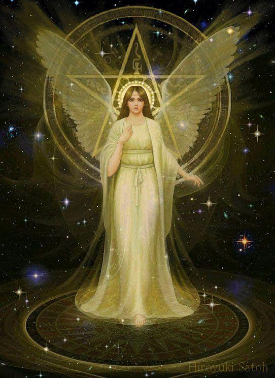 Guardian angel, pentagram halo ( Hiroyuki Satoh ):