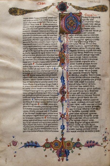 El Ms. 2703 contiene una copia del Comentario a las Tragedias de Séneca