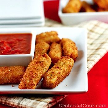 mini mozzarella sticks and other appitizers