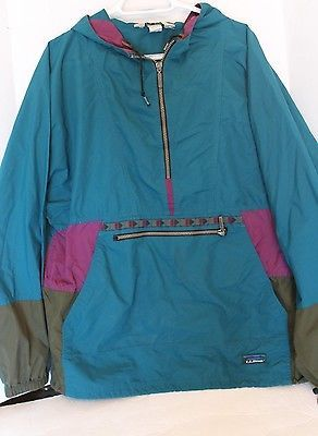 VTG L.L. Bean Windbreaker anorak pullover Jacket Mens L Southwest ...