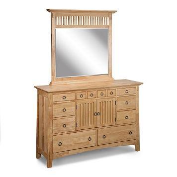 Bedroom furniture arts crafts light dresser mirror for Arts and craft bedroom furniture