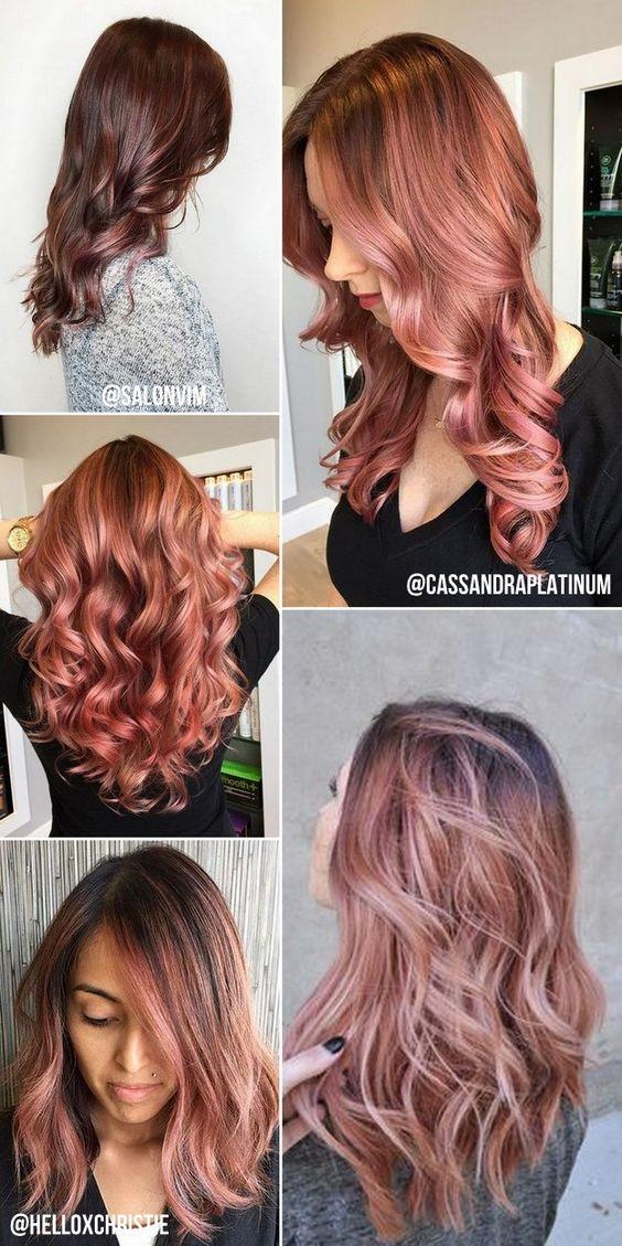 Depois do tão copiado e amado platinado acinzentado, a cor queridinha da temporada para os cabelos é o Rose Gold (ouro rosé). O loiro rosé ...: