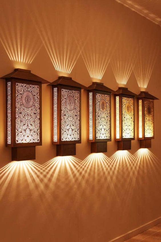 Moroccan Style Wall Lights : Sconces, Moroccan lanterns and Hallway lighting on Pinterest