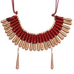Red Thread Work Necklace