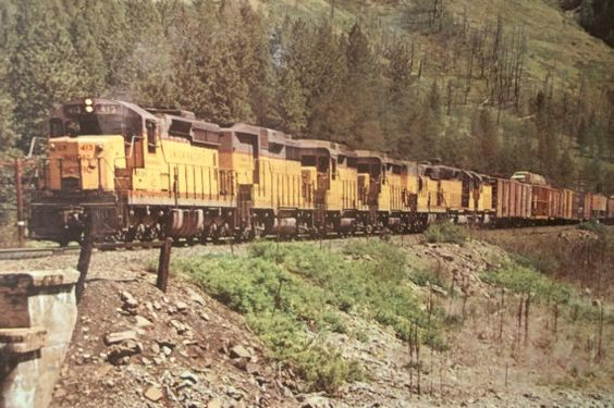 Vintage Union Pacific Railroad Colorphoto by Castawayacres on Etsy