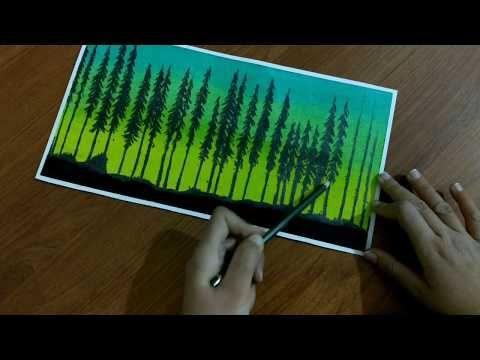 Drawing With Oil Pastels Step By Step Pastel Boyadan Manzara Cizimi Nasil Yapilir Youtube In 2020 Oil Pastel Drawings Pastel