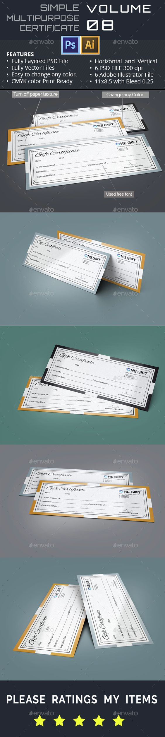 simple gift certificate gd simple gift certificates and simple gift certificate gd008 psd template only available here 10141