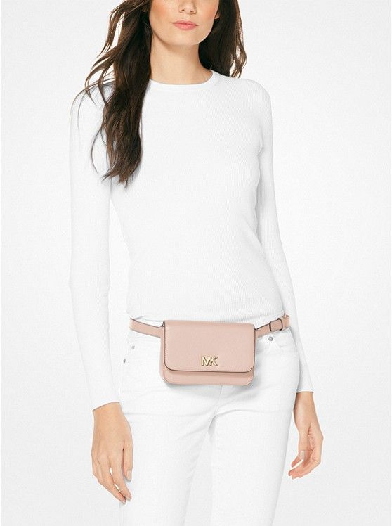 Belt Bags: Mott Leather Belt Bag | Michael Kors | Leather