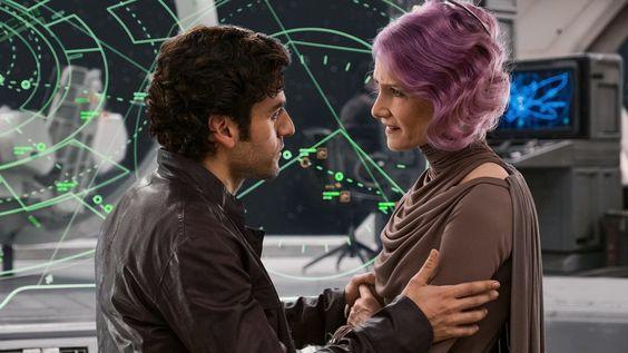 Oscar Isaac & Laura Dern - Star Wars TLJ
