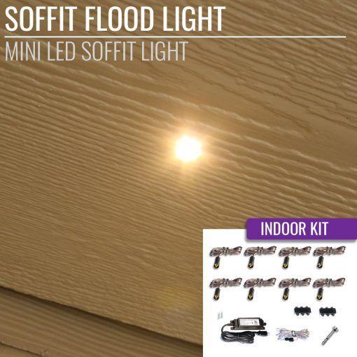 Led Soffit Spot Light 4 Pack With Images Flood Lights Led Outdoor Kit