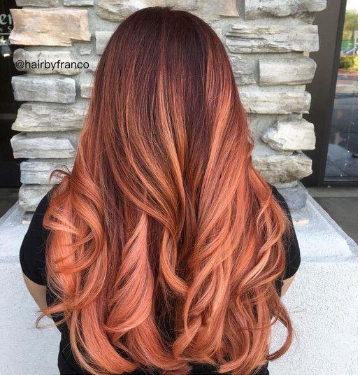 Copper Rose Hair Color Rose Gold Copper Rose Gold Hair Peach Hair