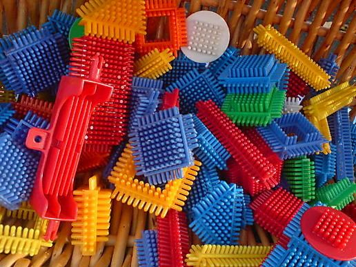 Stickle Bricks...these were SO awesome, still totally remember how they felt in your hand :)