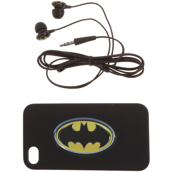 Batman | Pop Culture (25 AUD) ❤ liked on Polyvore featuring accessories, tech accessories, batman, apple iphone earbuds and iphone earbuds