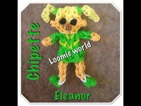 Rainbow Loom Alvin and the Chipmunks Chipette - ELEANOR figure. Designed and loomed by Tash Webber at Loomie World. Click photo for YouTube tutorial. 08/12/14.