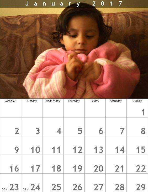 Create monthly calendars from your photographs. Three different ...