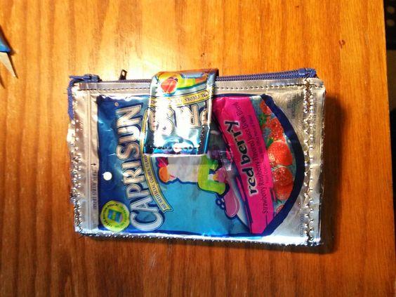 My New Capri Sun Wallet I made today!