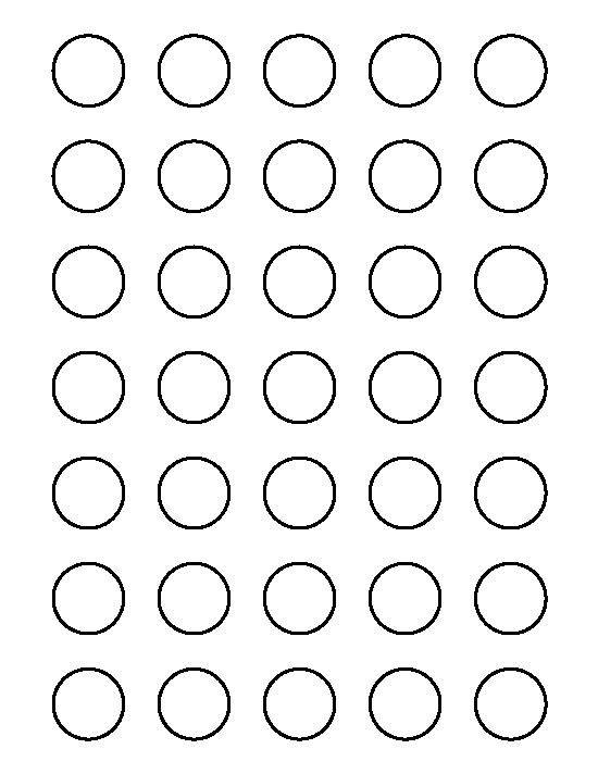 Crafts circle pattern and circles on pinterest for 1 inch diameter circle template