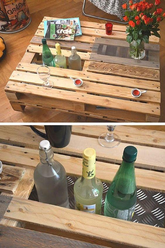 Bar En Palettes En Bois Palettes En Bois Idee Diy Et Palette - Deco table basse palette pour idees de deco de cuisine