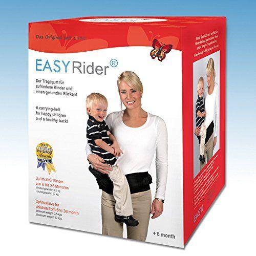 Easy-Rider 1003 Babytrage, Tragegurt, Universalgröße von S bis XL, schwarz