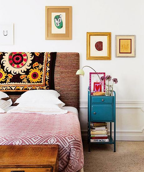 9 Must-Haves for a California Eclectic Home// suzani headboard: