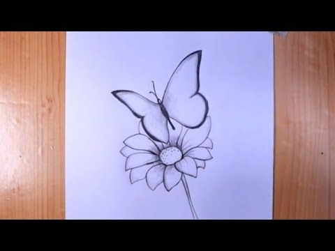 Pencil Drawing How To Draw A Butterfly Step By Step Cool Drawings Cool Easy Doodle Youtube In 2021 Cool Drawings Simple Doodles Pencil Drawings