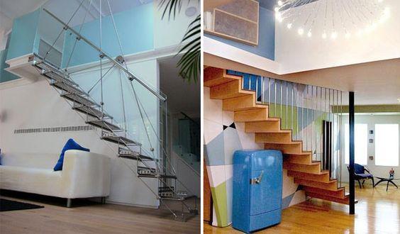 Escadas suspensas