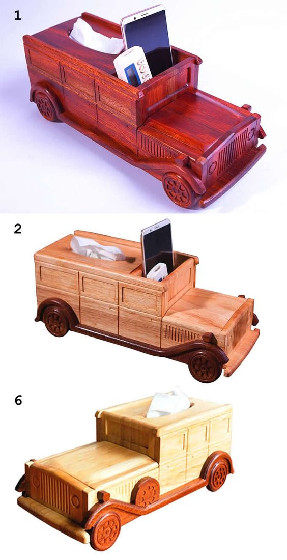 Wooden Classic Car Tissue Box Pen Pencil Holder Desk Organizer Remote Control Holder De Woodworking Projects Plans Cool Office Supplies Office Supplies Gift