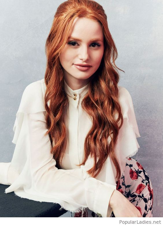 Nice Red Hair Color And White Shirt Madelaine Petsch Cheryl Blossom Riverdale Riverdale Cheryl