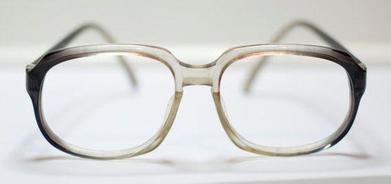 SUMMER SALE Vintage Womens Eyeglasses Oversized Hipster by funkyou
