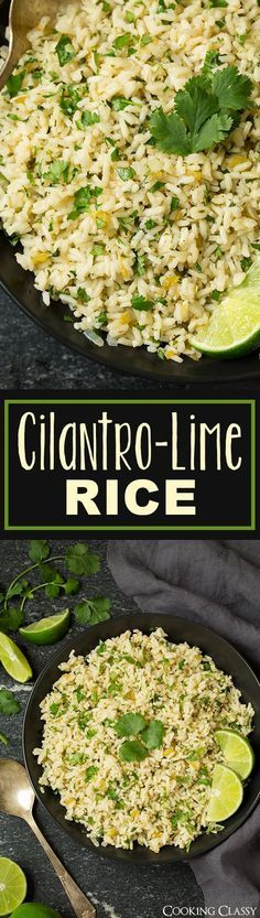 Cilantro Lime Rice - I can never get enough of this stuff! I crave it all the time! Perfect side for just about any Mexican or Southwestern meal.