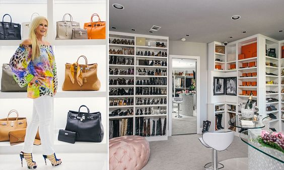 Former Miss Texas opens the doors to her two-level, 3,000sq ft closet