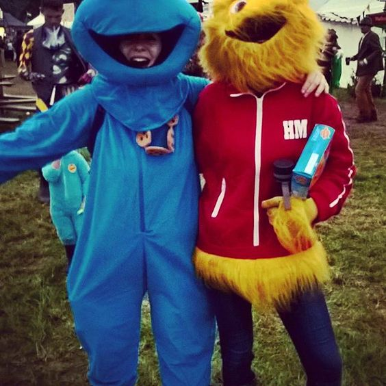 So how did you spend the bank holiday weekend? I spent mine in a field dressed up as the Cookie monster, with my good old pal the Honey monster! #CookieMonster #CookieMonsterFancyDress #FancyDress #FestivalFancyDress #FestivalTheme #MythsAndMonsters #ShambalaFestival #Shambala2016 #MonsterDressUp #MonsterCostume #COOKIE!