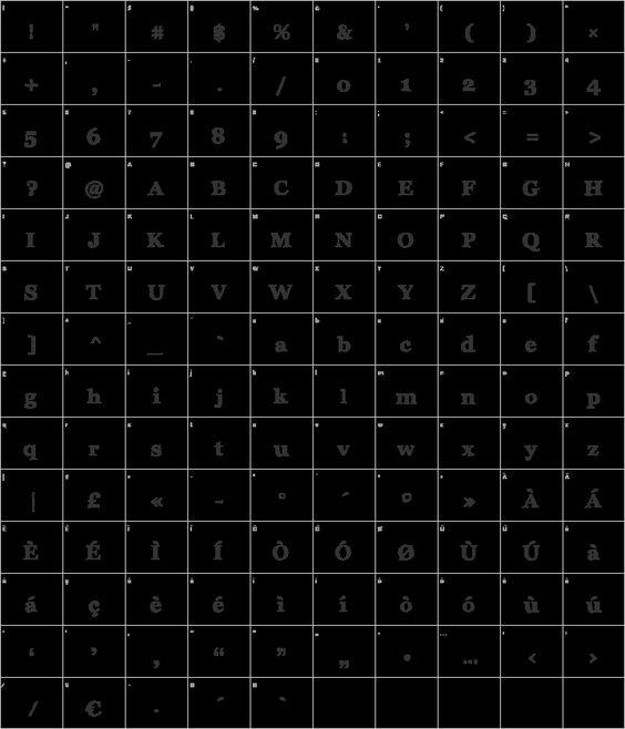 Archistico Glyph Map Font Squirrel Typeface Font Fonts