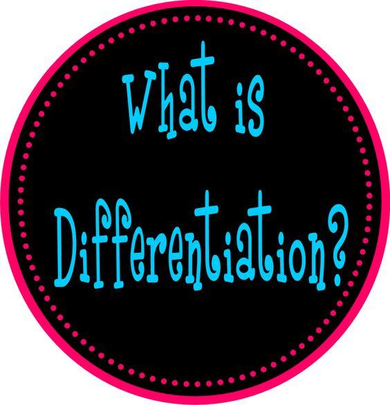 The Differentiation Destination: What IS Differentiation?