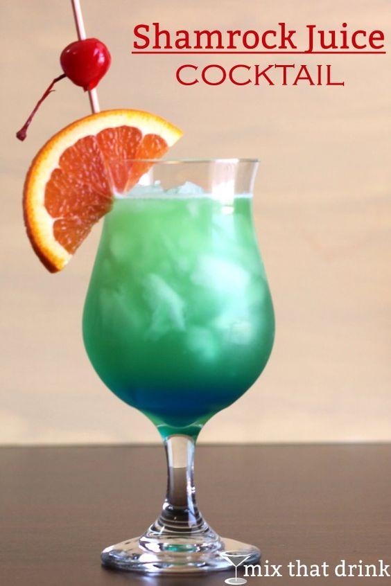 Shamrock juice cocktail recipe drinks orange juice and for Orange and blue cocktails