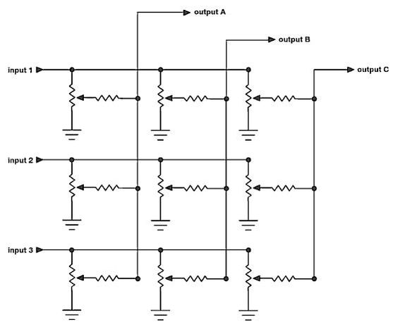 Mathlete's Showcase & 3�3 Passive Matrix Mixer Toshiba Wiring Diagram Cooler Master Wiring Diagram On Apc Matrix 500 Wiring Diagram #56