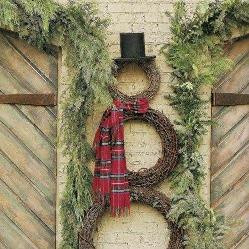 Great snowman - via Splenderosa blog