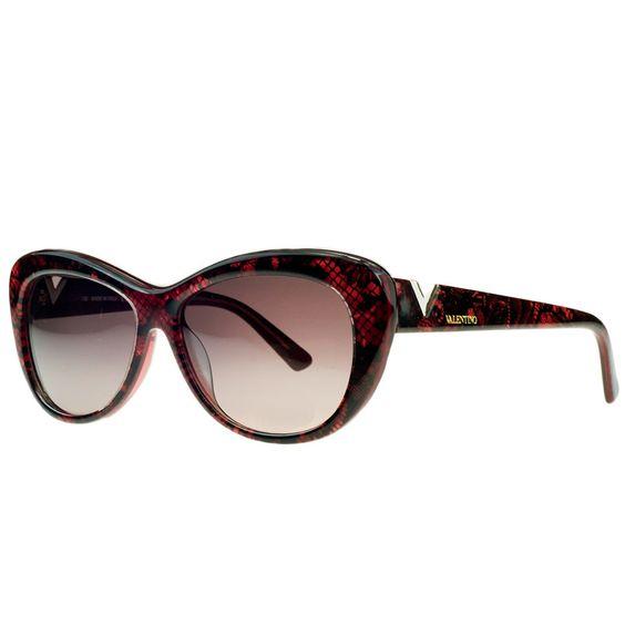 Valentino V628/S 619 Red Pearl Cateye Sunglasses