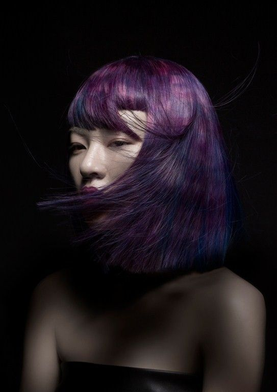 taiwan coiffures and mauve on pinterest - Coloration Mauve