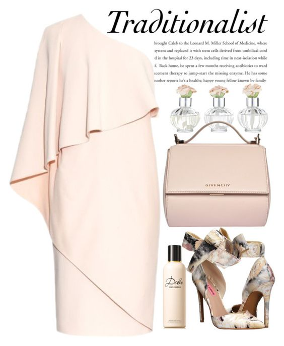 GIVENCHY One-shoulder stretch-cady dress by crblackflag on Polyvore featuring polyvore, fashion, style, Givenchy, Betsey Johnson, Dolce&Gabbana, Shabby Chic, dolceandgabbana and GIVENCHYdress