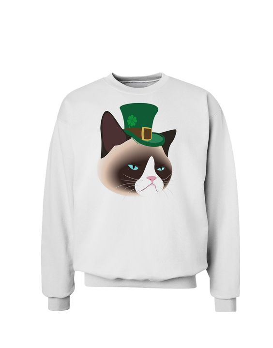 TooLoud Leprechaun Disgruntled Cat Sweatshirt